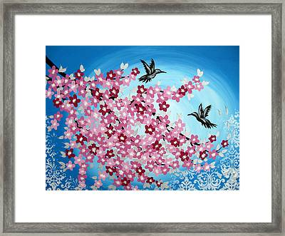 Love Re-imagined Framed Print by Cathy Jacobs