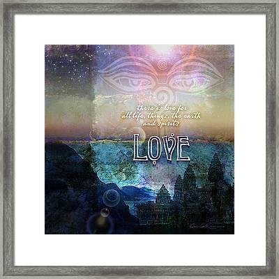 Love Spiritual Framed Print by Evie Cook