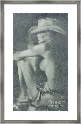Love Those Cowgirls Framed Print by Frances Marino
