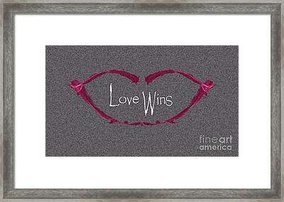Love Wins Framed Print by Charlie Cliques