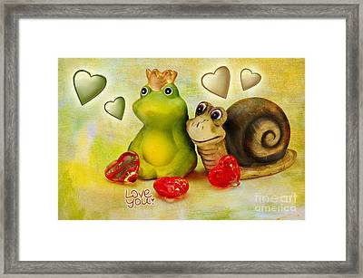 Love You Framed Print by Angela Doelling AD DESIGN Photo and PhotoArt