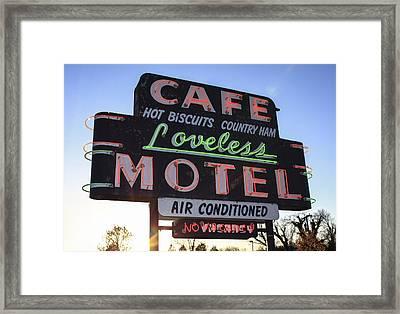 Loveless Cafe And Motel Nashville Framed Print by David M Porter