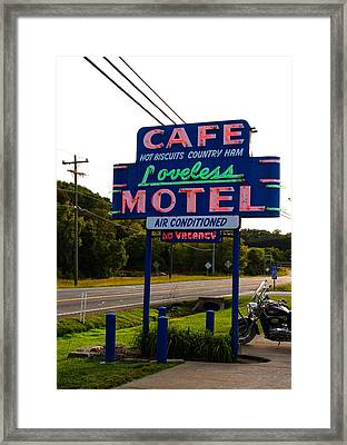 Loveless Cafe Sign Framed Print by Denise Keegan Frawley