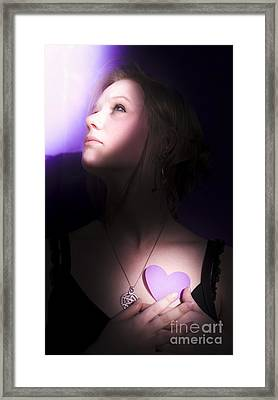 Lovelorn Young Woman Framed Print by Jorgo Photography - Wall Art Gallery