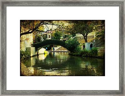 Lovely Day In The Riverwalk Framed Print by Iris Greenwell