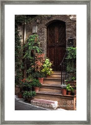 Lovely Entrance Framed Print by Prints of Italy