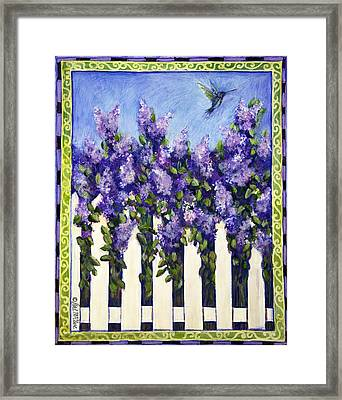 Lovely Lilacs Framed Print by Gail McClure