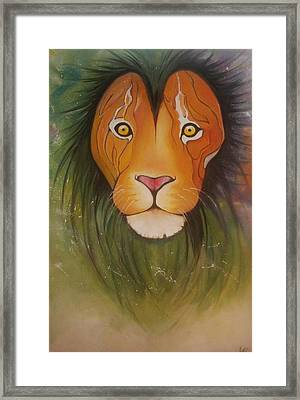 Lovelylion Framed Print by Anne Sue