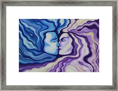 Lovers In Eternal Kiss Framed Print by Jindra Noewi