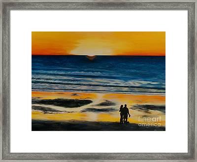 Lovers Framed Print by Johanna Larson