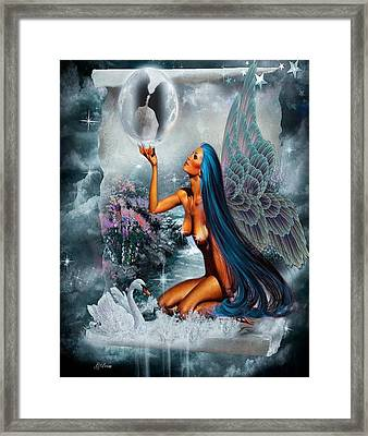 Lovers Moon 2 Framed Print by G Berry