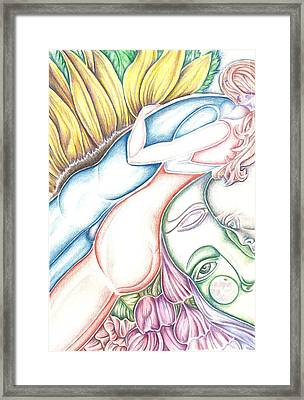 Lovers Plus One Framed Print by Karen Musick