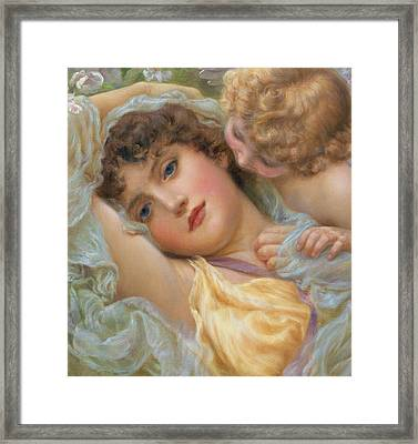 Love's Whispers Framed Print by NP Davies