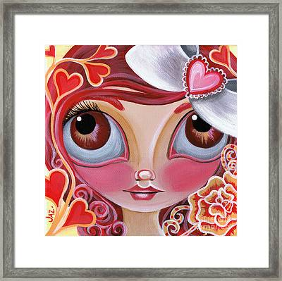 Lovey Dovey Framed Print by Jaz Higgins