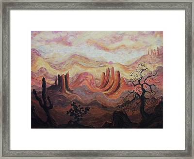 Loving Arizona Framed Print by Suzanne  Marie Leclair