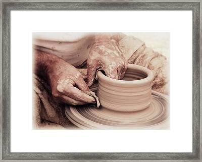 Loving Hands Creation Framed Print by Emanuel Tanjala