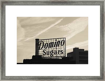Low Angle View Of Domino Sugar Sign Framed Print by Panoramic Images