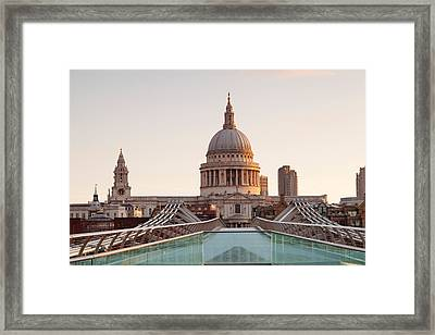 Low Angle View Of St. Pauls Cathedral Framed Print by Panoramic Images