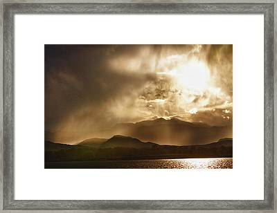 Low Clouds On The Colorado Rocky Mountain Foothills Framed Print by James BO  Insogna