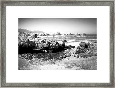 Low Tide At Point Lobos Framed Print by Joyce Dickens