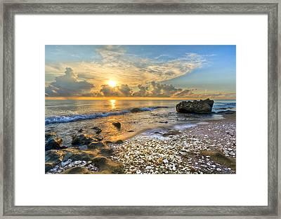 Low Tide Framed Print by Debra and Dave Vanderlaan