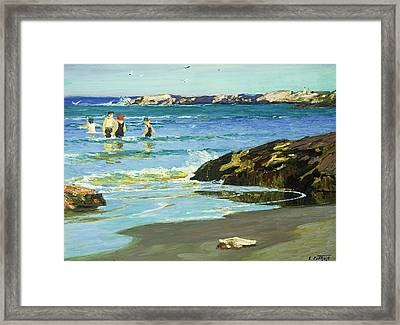 Low Tide Framed Print by Edward Henry Potthast