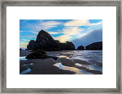 Low Tide Meyers Beach Framed Print by Garry Gay