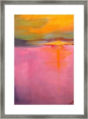 Low Tide Framed Print by Nancy Merkle