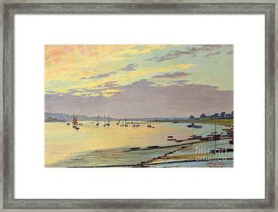 Low Tide Framed Print by W Savage Cooper
