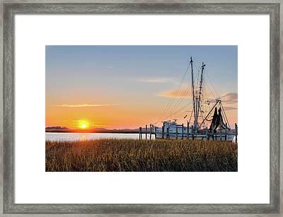 Lowcountry Sunset Framed Print by Drew Castelhano
