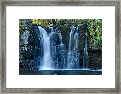 Lower Johnson Falls 2 Framed Print by Larry Ricker