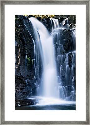 Lower Johnson Falls 3 Framed Print by Larry Ricker