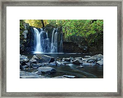 Lower Johnson Falls Framed Print by Larry Ricker