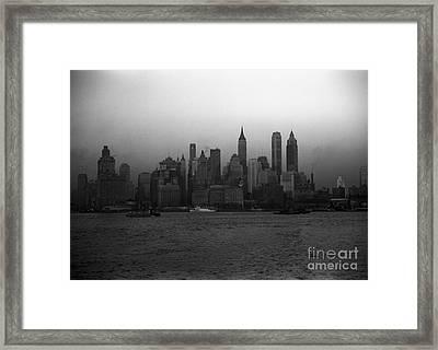 Lower Manhattan Framed Print by Celestial Images