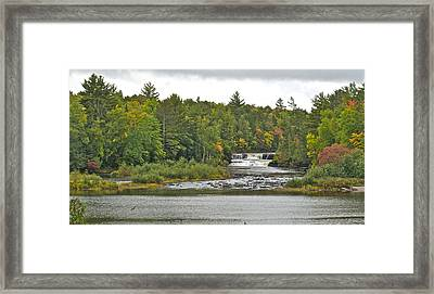Lower Tahquamenon Falls 4 Framed Print by Michael Peychich