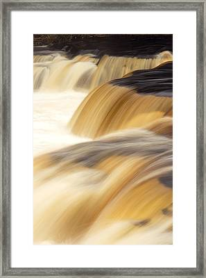 Lower Tahquemenon Falls Framed Print by Amanda Kiplinger
