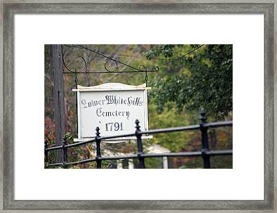 Lower White Hills Cemetery Framed Print by Karol Livote