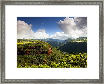 Lower Wiamea View Framed Print by Mike  Dawson