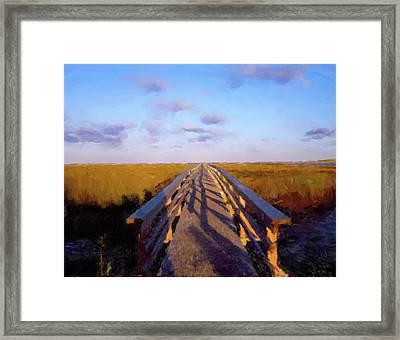 Lowlands Bridge Framed Print by Gary Grayson