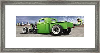 Lowrider At Painted Desert Framed Print by Mike McGlothlen