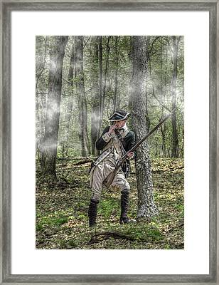 Loyalist Skirmisher  American Revolution Framed Print by Randy Steele