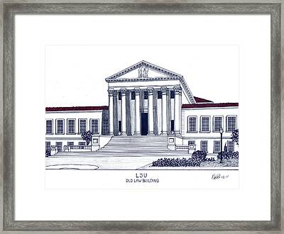 Lsu Old Law Building Framed Print by Frederic Kohli