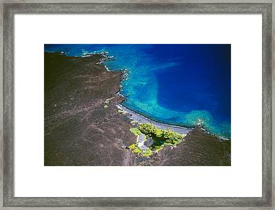 Luahinewai Aerial Framed Print by Peter French - Printscapes