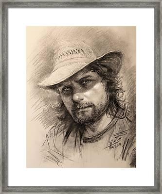 Luca Framed Print by Ylli Haruni