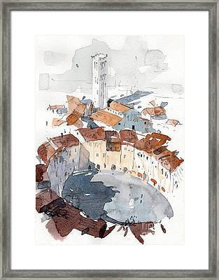 Lucca Italy 3 Framed Print by Tony Belobrajdic