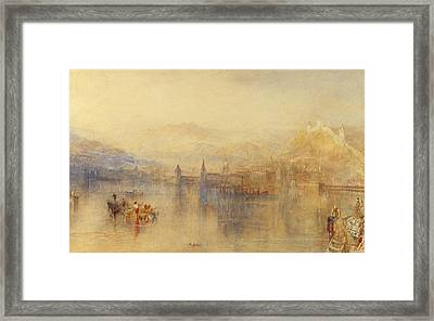 Lucerne From The Lake Framed Print by Joseph Mallord William Turner