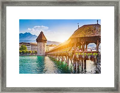 Lucerne Sunset Framed Print by JR Photography