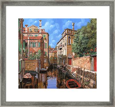 Luci A Venezia Framed Print by Guido Borelli