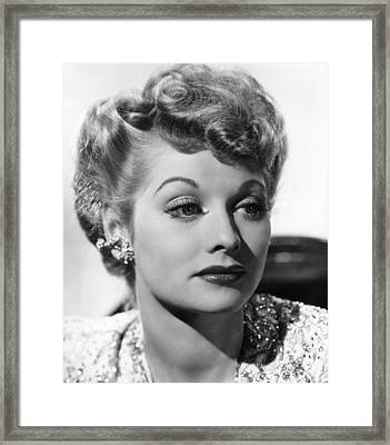 Lucille Ball, Ca. 1940s Framed Print by Everett