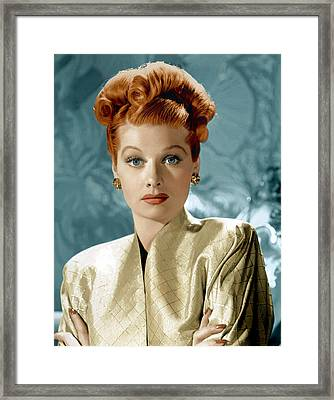 Lucille Ball Framed Print by Everett Collection